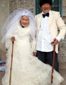Первое свадебное фото после 88 лет брака!