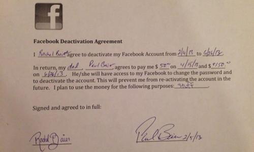 200$ за отказ от Фейсбука